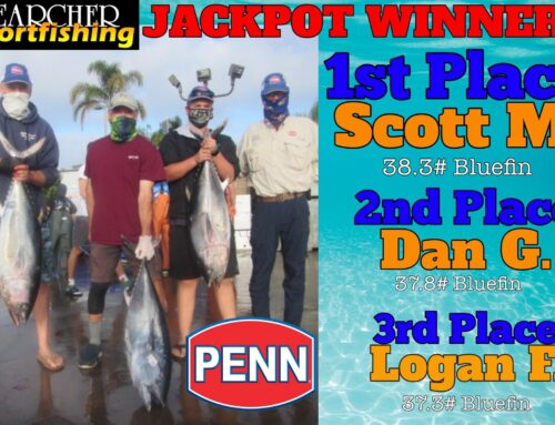 JACKPOT WINNERS Trip #23 Penn Fishing